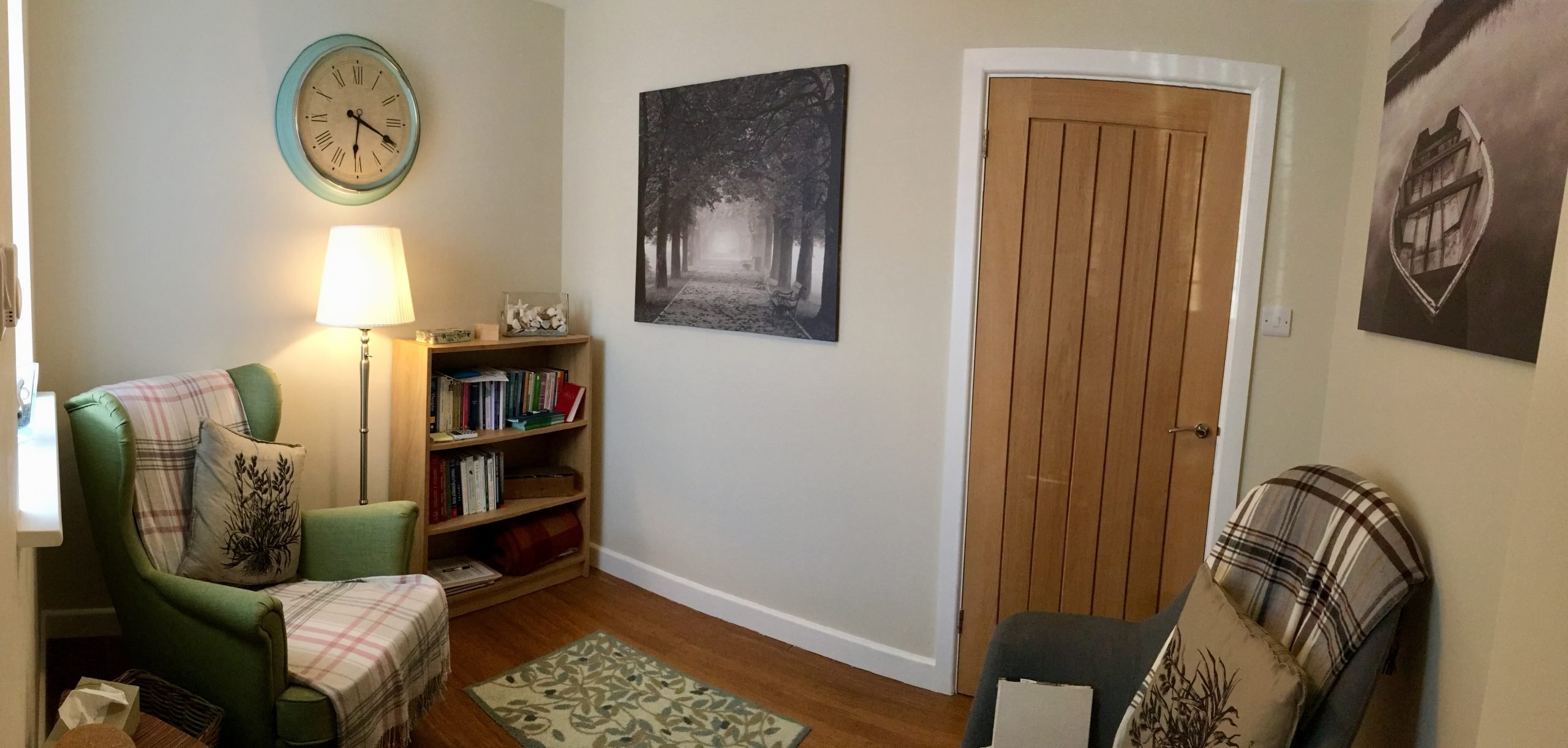 private and confidential dedicated room for online therapy